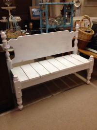 Bench made from bed frame | Teddi's Treasures | Pinterest ...