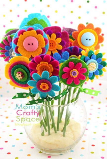 Felt Flowers -: