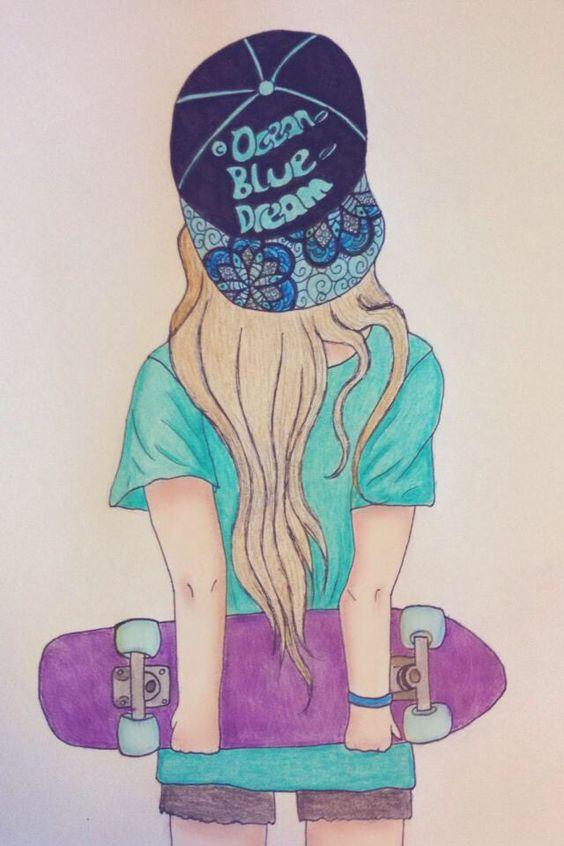 Penny Skateboards Girl Wallpaper Love Penny Skateboards Tekenen Pinterest