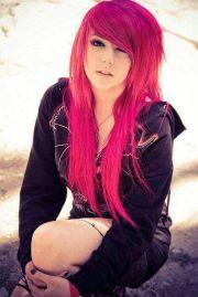 pink hair emo girls