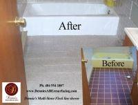 Bathtub Reglazing and Floor Tile Resurfacing, Multi-Stone ...