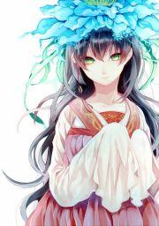 anime girl with long black hair