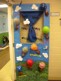 Classroom door decoration. The sky is the limit with Mrs