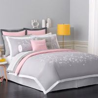 pink adult bedding | Option 1: Gray & Pink Romantic ...