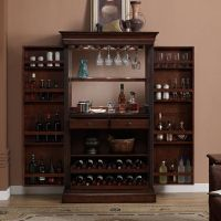 Ashley Heights Home Bar Wine Cabinet | Wine Cabinets, Home ...