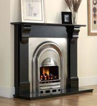 Black Fireplace Surround   agnews athena black granite ...
