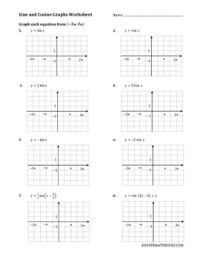 Sine And Cosine Graphs Worksheet Free Worksheets Library