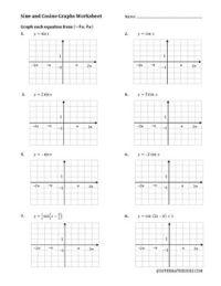 Sine And Cosine Graphs Worksheet Free Worksheets Library ...