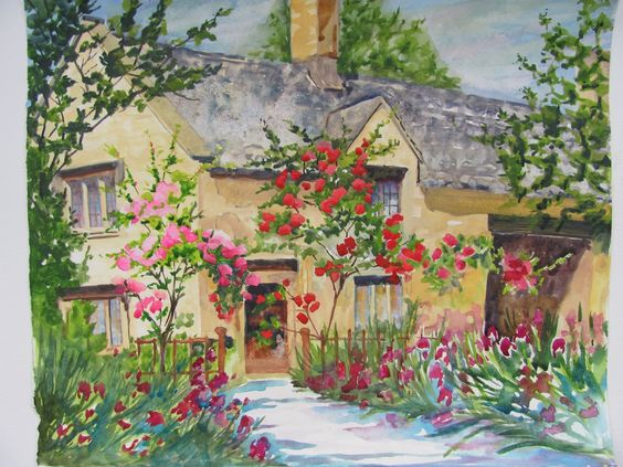 Cotswold Cottage' By Marilyn McMurray Paintingsbymarilyn