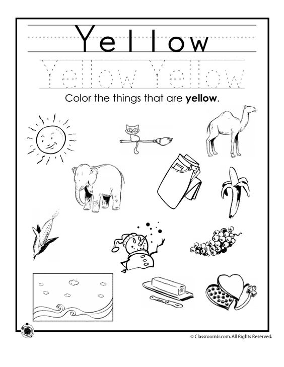 All Worksheets » Color Yellow Worksheets Preschool