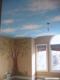 Tree murals, Sky and Ceilings on Pinterest