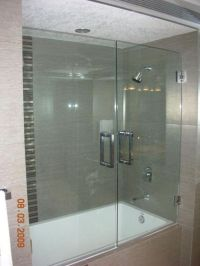 Shower doors, Doors and Tub enclosures on Pinterest