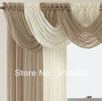luxury sheer curtain valance waterfall swag valance W 60 ...