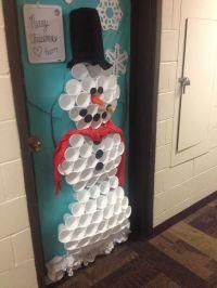 Christmas/snowman dorm door decoration!! | Feeling ...