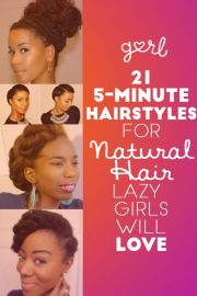 hairstyles natural hair five