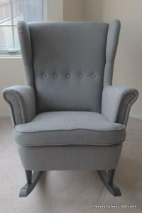 IKEA Hack: Strandmon Rocker {DIY Wingback Rocking Chair ...