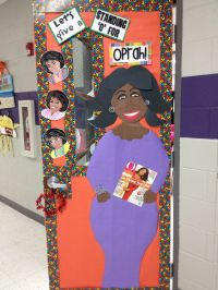 Black History Month...Oprah study. Classroom door decor ...