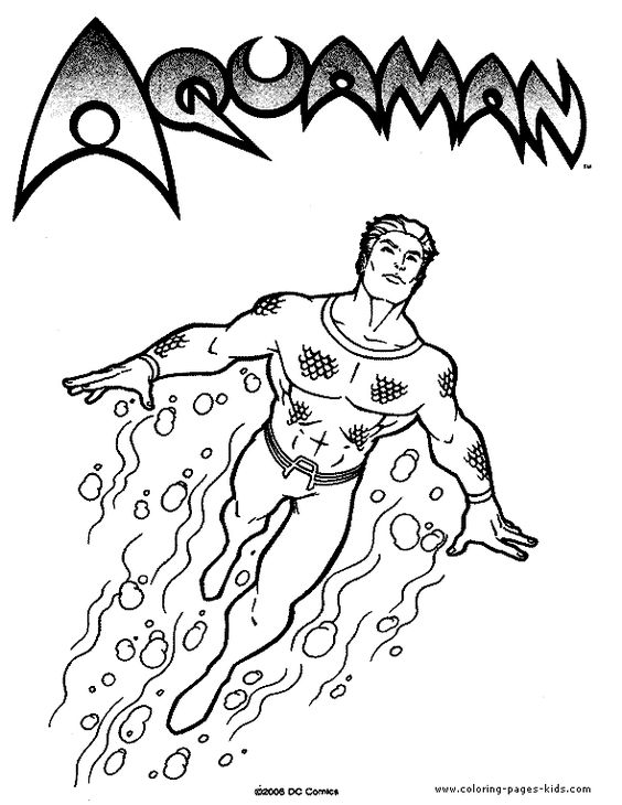 Aquaman, Cartoon characters and Coloring pages on Pinterest