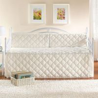 White Eyelet Daybed Set | White Metal Daybed with Trundle ...