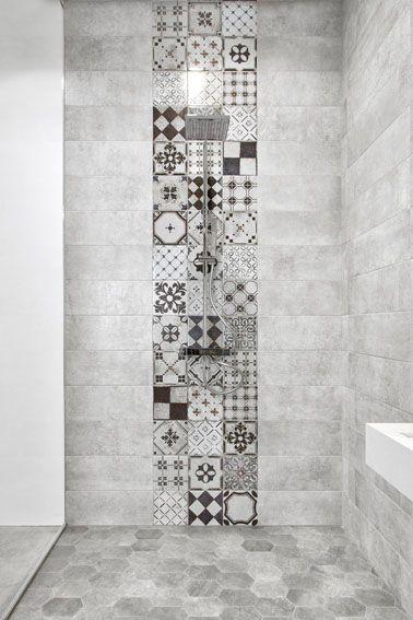 Piastrelle effetto cemento 80x80 per il bagno e piastrelle esagonali  UPGRADE E CANTINA  Pinterest