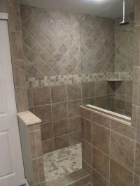 Bathroom , The Required Size of Doorless Walk in Shower ...