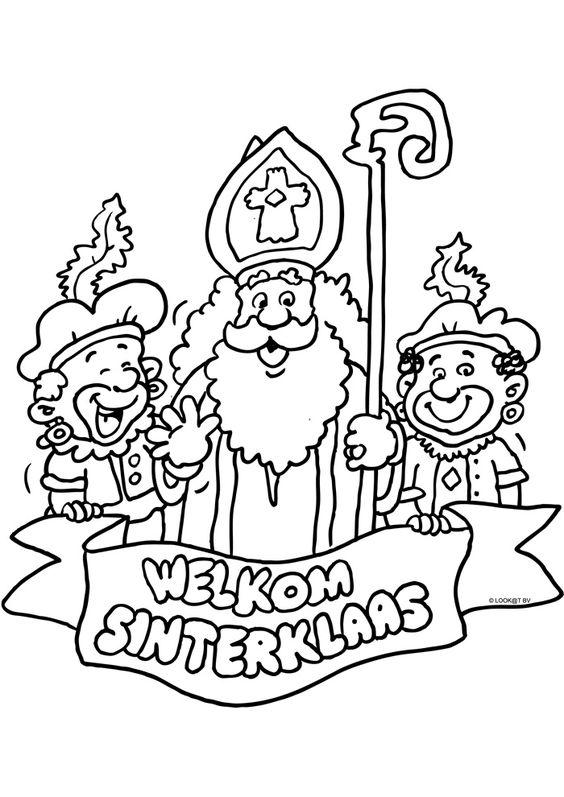 Sinterklaas Staf Kleurplaat
