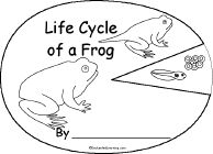 Life Cycle of a Frog Book, A Printable Book