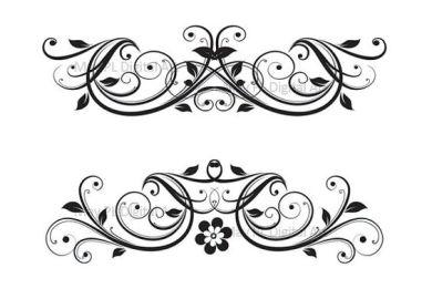 Digital Clipart Flourish Clip Art Swirls Vintage Flower Diy Wedding
