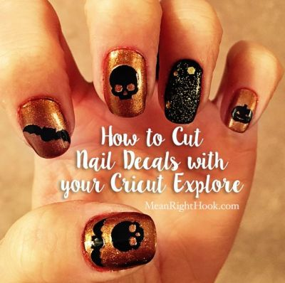 How to cut nail decals with your Cricut Explore | MeanRightHook.com: