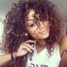 pretty mixed girls with curly hair tumblr google search wcw pinterest cheveux bouclés