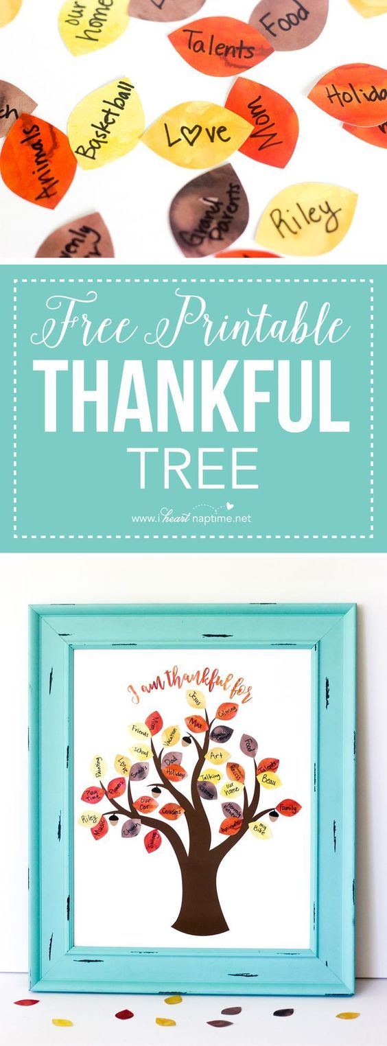 This FREE Printable Thankful Tree is the perfect activity for Thanksgiving this year. Get your whole family to participate in this fun and easy craft!: