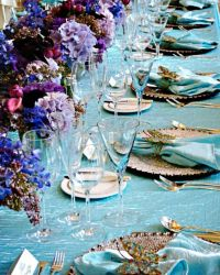 Table settings, Table setting inspiration and Purple on ...