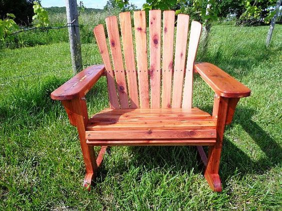 Rustic Cedar Big Boy Rocking Chair All Handmade by Ozark