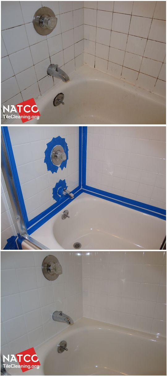 Cleaning and recaulking bathtub surround tiles with black moldy grout  Cleaning moldy shower