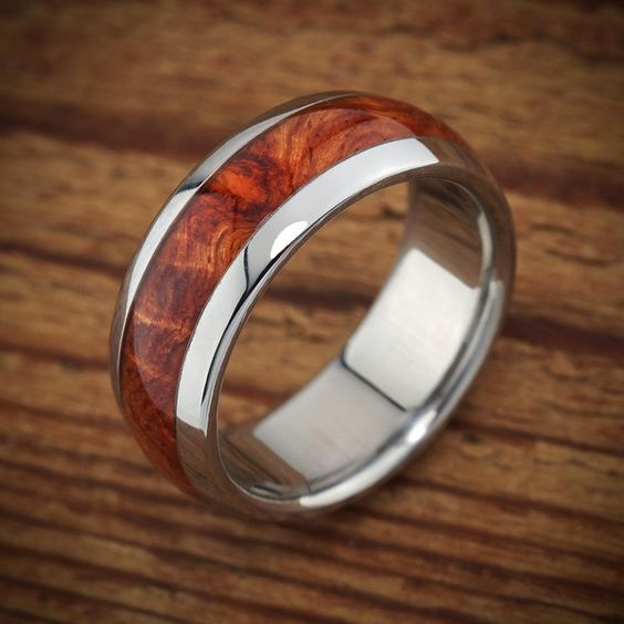 Mens wood wedding ring by Spextoncom unusual wood and