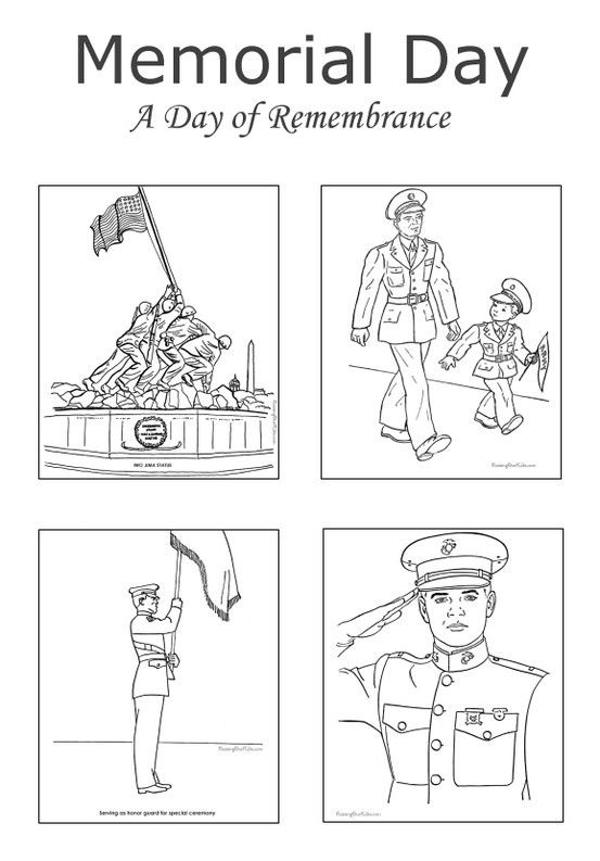 Memorial day coloring pages, Memorial day and Coloring on