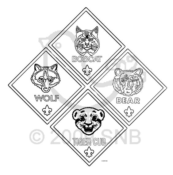 Cub scouts, Cubs and Coloring pages on Pinterest