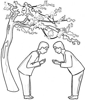 Saying Hello In Japan coloring pages #Japanese culture for