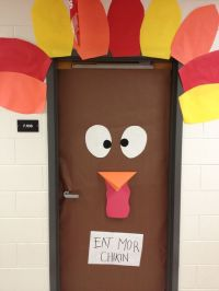 Thanksgiving door decoration for school