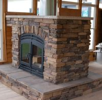 Traditional See Thru Wood Double Sided Fireplace With