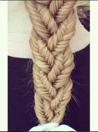 Awesome braid made from small fishtail braids | ~Hair ...