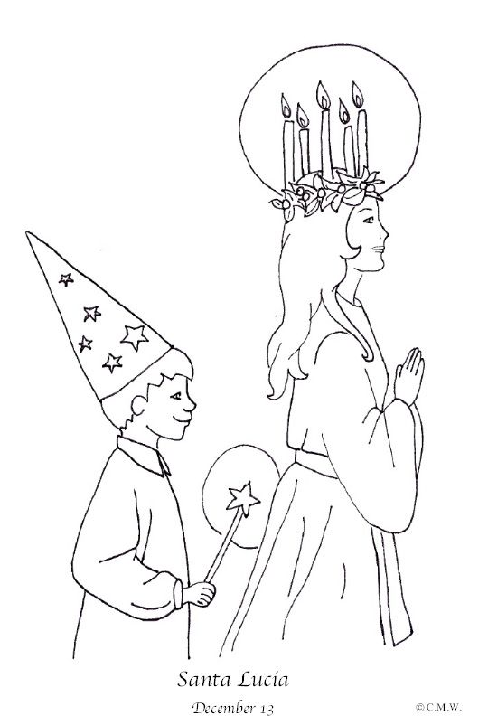 This st lucia coloring page will be great for teaching my