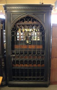 Beautiful locking wine cabinet in a black finish with ...