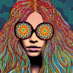 Image result for girl with kaleidoscope eyes