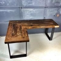 Reclaimed Wood L Shaped Desk | Stuff to Buy | Pinterest ...