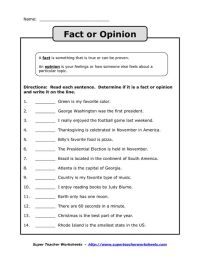 Facts And Opinions Worksheet Free Worksheets Library ...