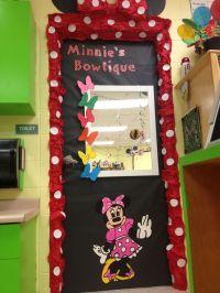 Decorate girls bathroom door in a classroom to show Minnie ...