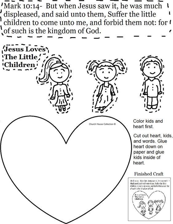 Jesus Loves The Little Children Cutout Activity Sheet for