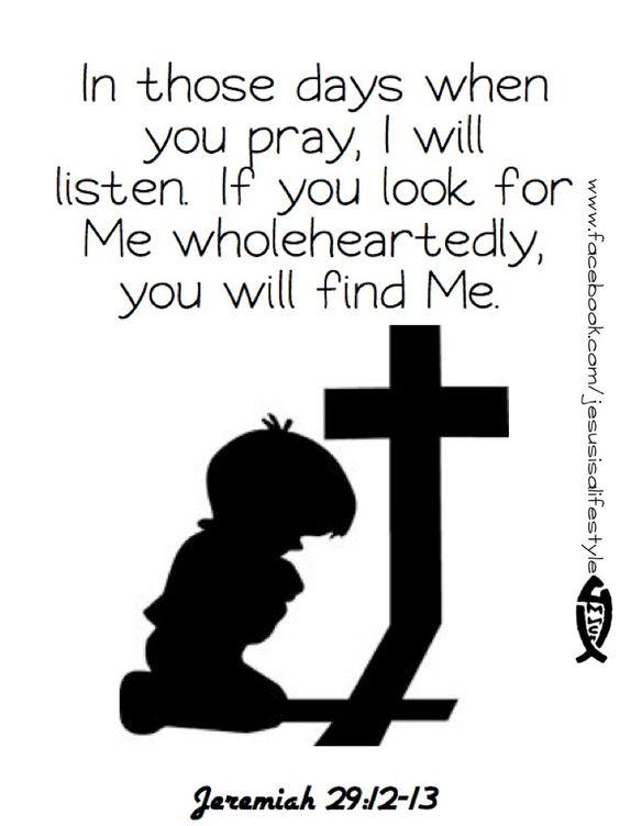Jeremiah 29, The revelation and I will on Pinterest
