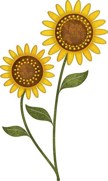 sunflowers clip art - fall